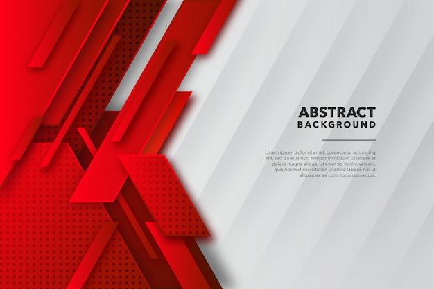 Fondo abstracto geométrico moderno blanco rojo
