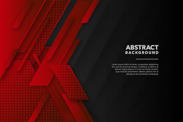 Fondo abstracto geométrico moderno negro rojo