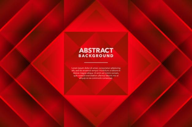 Fondo abstracto geométrico moderno rojo