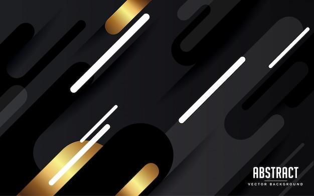 Fondo abstracto geométrico negro y gris y oro color moderno