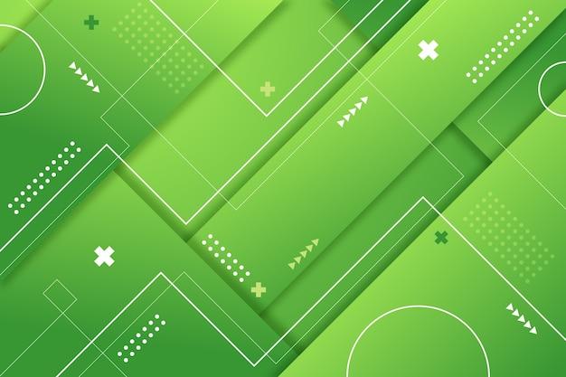 Fondo abstracto geométrico verde