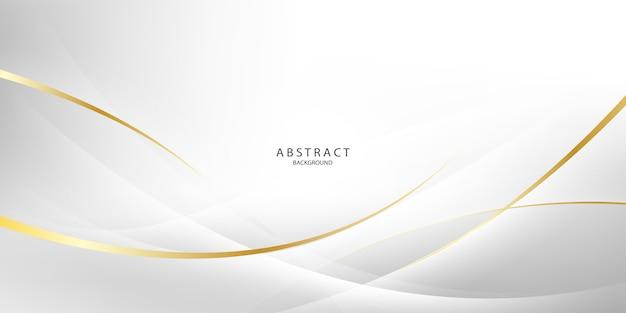 Fondo abstracto gris y dorado con ondas dinámicas. red de tecnología.