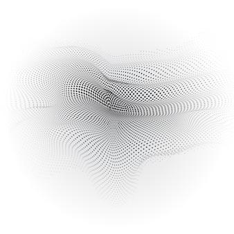 Fondo abstracto gris con formas onduladas