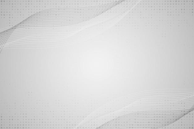 Fondo abstracto gris ondas y líneas blancas