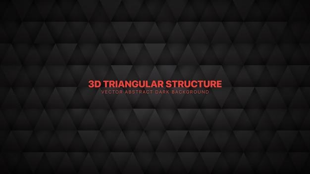 Fondo abstracto gris oscuro tecnológico de triángulos 3d