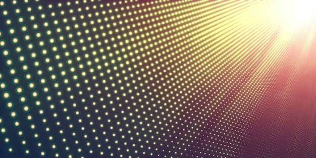 Fondo abstracto de halfton con luz brillante
