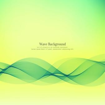 Fondo abstracto hermoso ola verde
