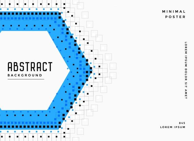 Fondo abstracto hexagonal y puntos