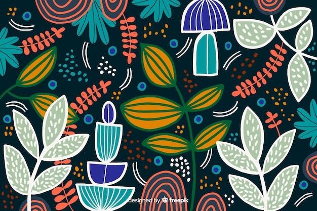 Fondo abstracto hojas tropicales