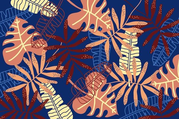 Fondo abstracto de hojas tropicales