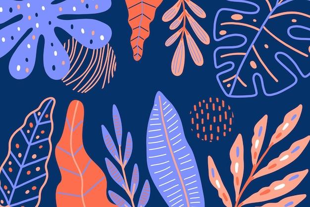Fondo abstracto con hojas tropicales
