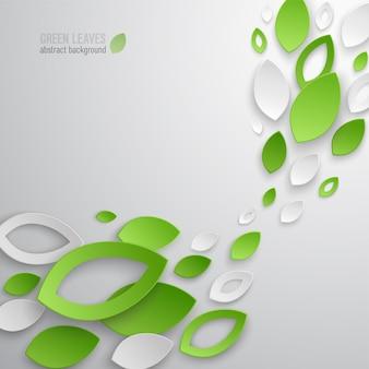 Fondo abstracto de hojas verdes