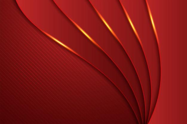 Fondo abstracto horizontal en color rojo