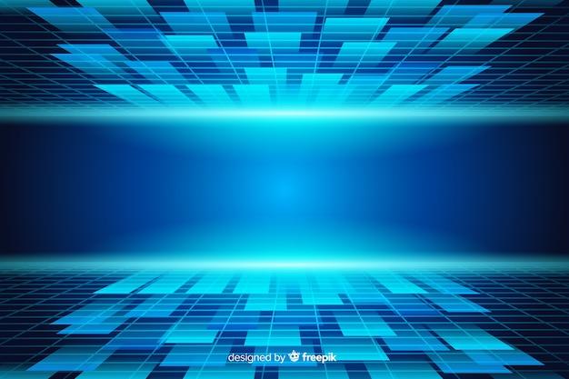 Fondo abstracto de horizonte futurista