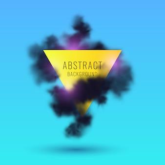Fondo abstracto con humo negro