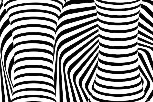 Fondo abstracto de la ilusión óptica psicodélica 3d