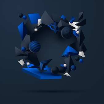Fondo abstracto de la ilustración 3d