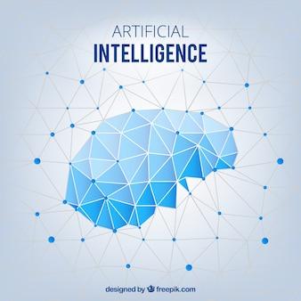 Fondo abstracto de inteligencia artificial