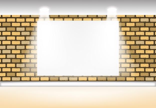 Fondo abstracto interior, luz de efecto de pared en blanco