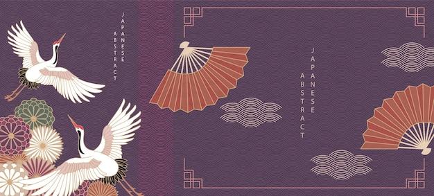 Fondo abstracto japonés oriental