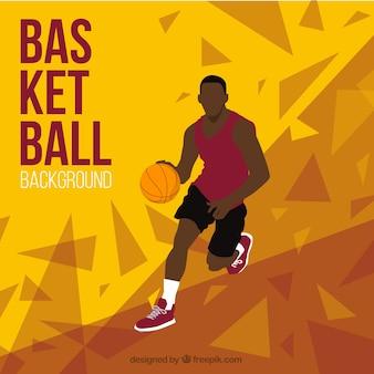 Fondo abstracto de jugador de baloncesto
