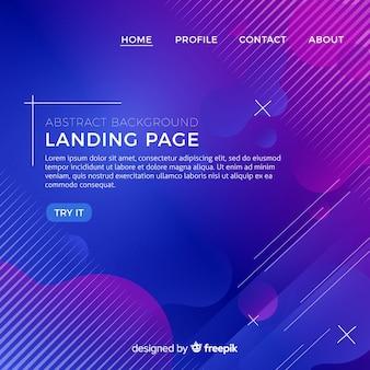 Fondo abstracto de landing page