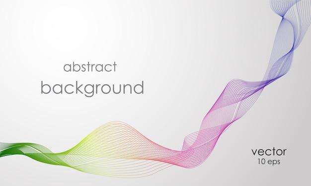 Fondo abstracto con línea de arco iris.