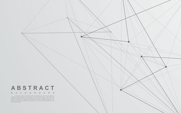 Fondo abstracto de línea blanca