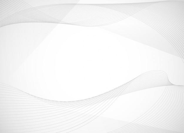 Fondo abstracto con línea ondulada curva