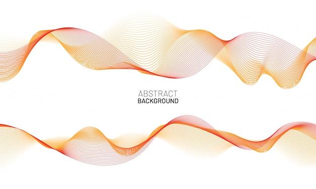 Fondo abstracto de línea ondulada. onda dinámica roja aislada sobre fondo blanco