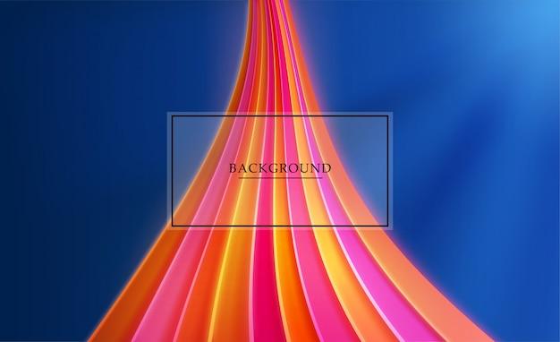 Fondo abstracto con líneas brillantes luces de neón y telón de fondo.