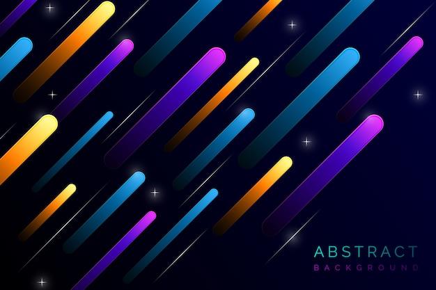 Fondo abstracto con líneas de colores