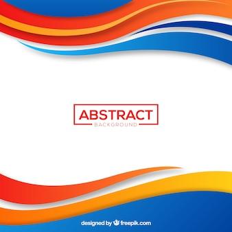 Fondo abstracto con líneas coloridas
