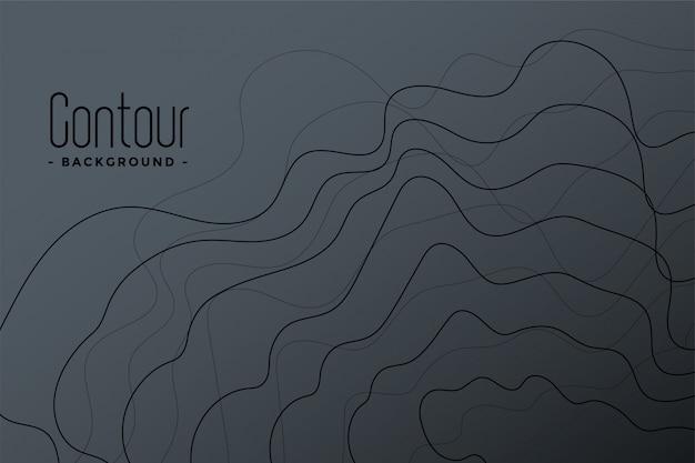 Fondo abstracto de líneas de contorno gris