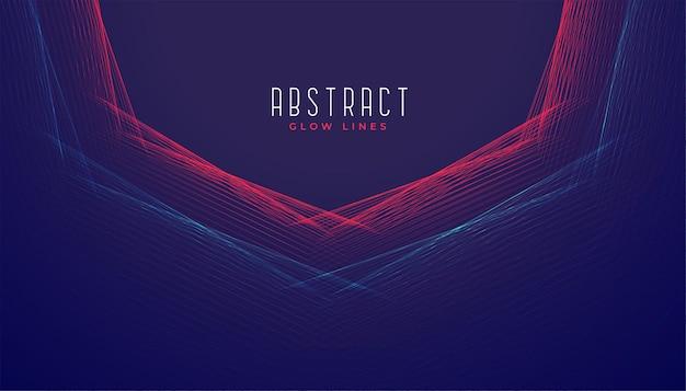 Fondo abstracto líneas digitales
