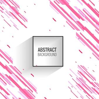 Fondo abstracto de líneas geométricas rosa