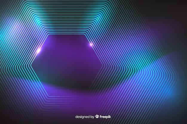Fondo abstracto de líneas de neón galaxia