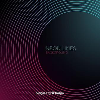 Fondo abstracto de líneas de neón