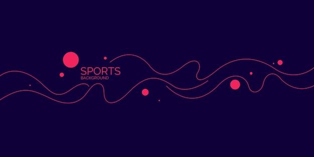 Fondo abstracto con líneas onduladas ilustración vectorial moderna para deportes