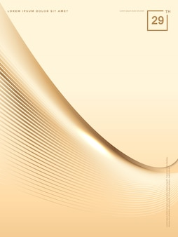 Fondo abstracto de líneas de oro de lujo, fondo de folleto