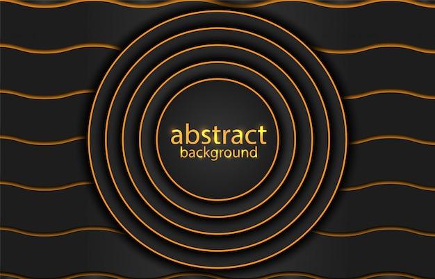 Fondo abstracto con líneas de oro