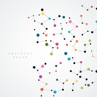 Fondo abstracto con líneas y puntos conectados.