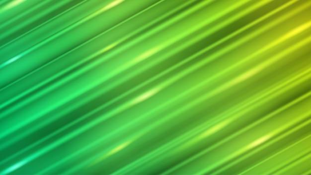 Fondo abstracto de líneas rectas inclinadas con resplandores en colores verdes