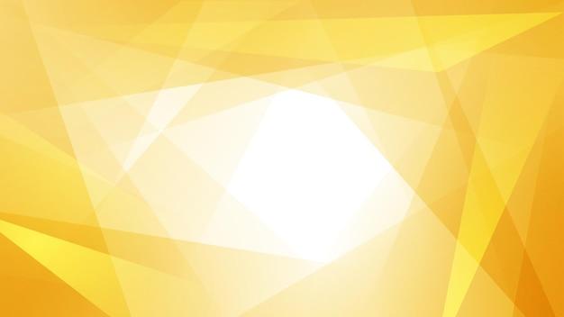 Fondo abstracto de líneas rectas que se cruzan y polígonos en colores amarillos