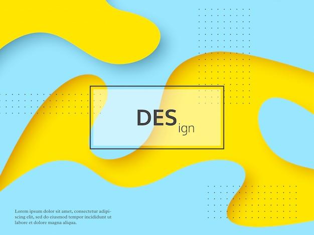 Fondo abstracto líquido amarillo y turquesa.
