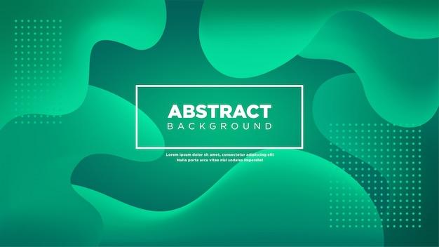 Fondo abstracto líquido en color verde