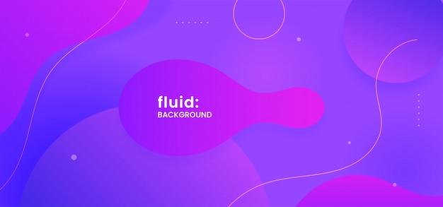 Fondo abstracto líquido forma geométrica dinámica