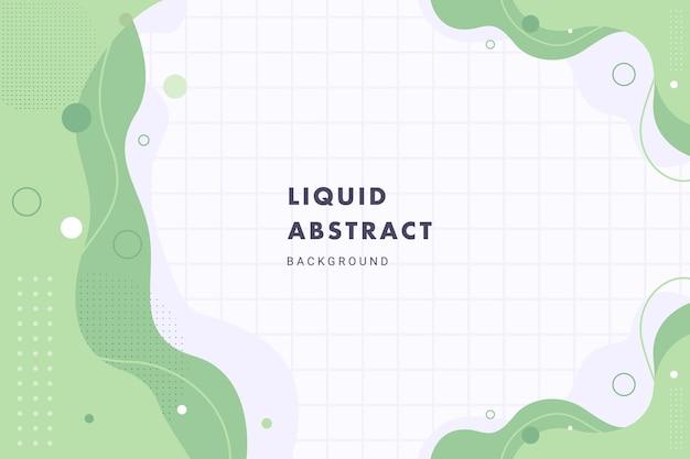 Fondo abstracto líquido de ondas de memphis verde pastel para diseño de plantilla de banner de folleto flyer