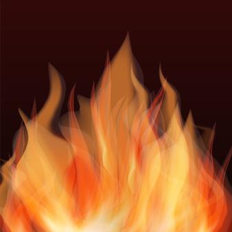 Fondo abstracto de llama de fuego