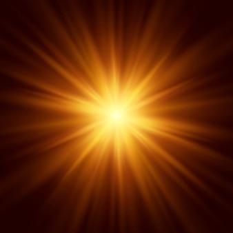 Fondo abstracto de la llamarada de iluminación. ilustración vectorial